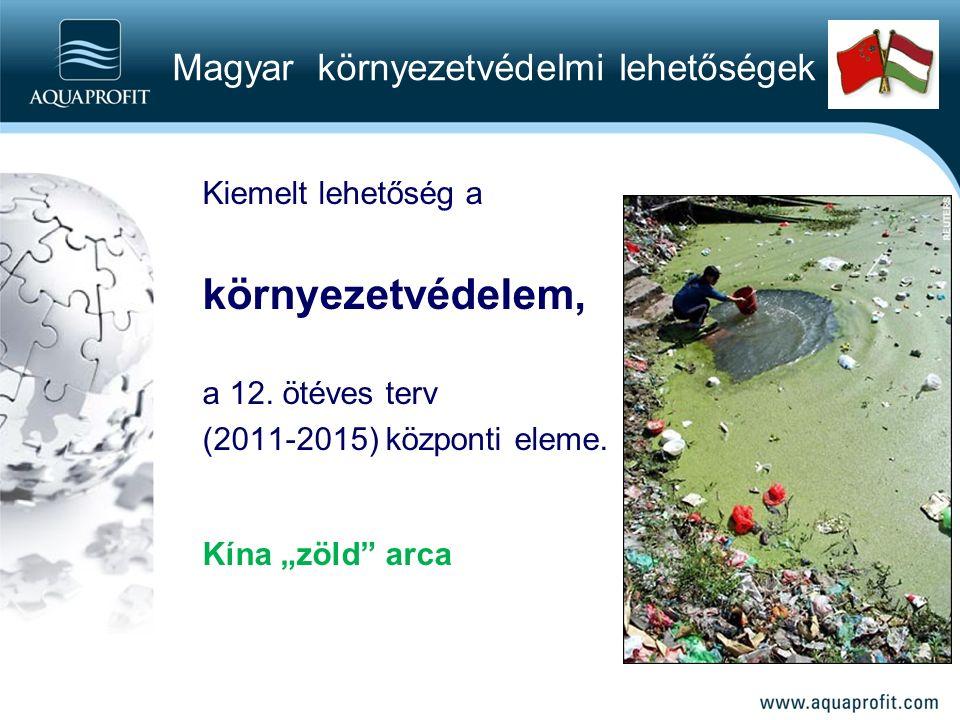 Kiemelt lehetőség a környezetvédelem, a 12. ötéves terv (2011-2015) központi eleme.
