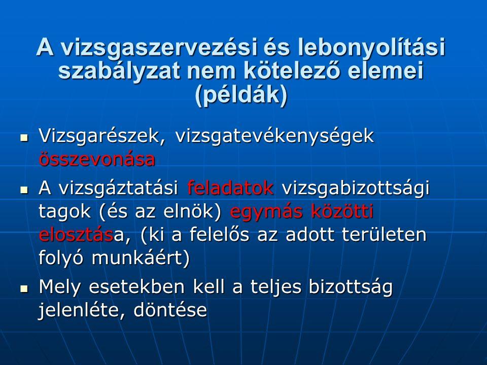 A szakmai vizsgáztatás változása Vizsgák: Iskolai rendszer Felnőttképzés: 20/2007.
