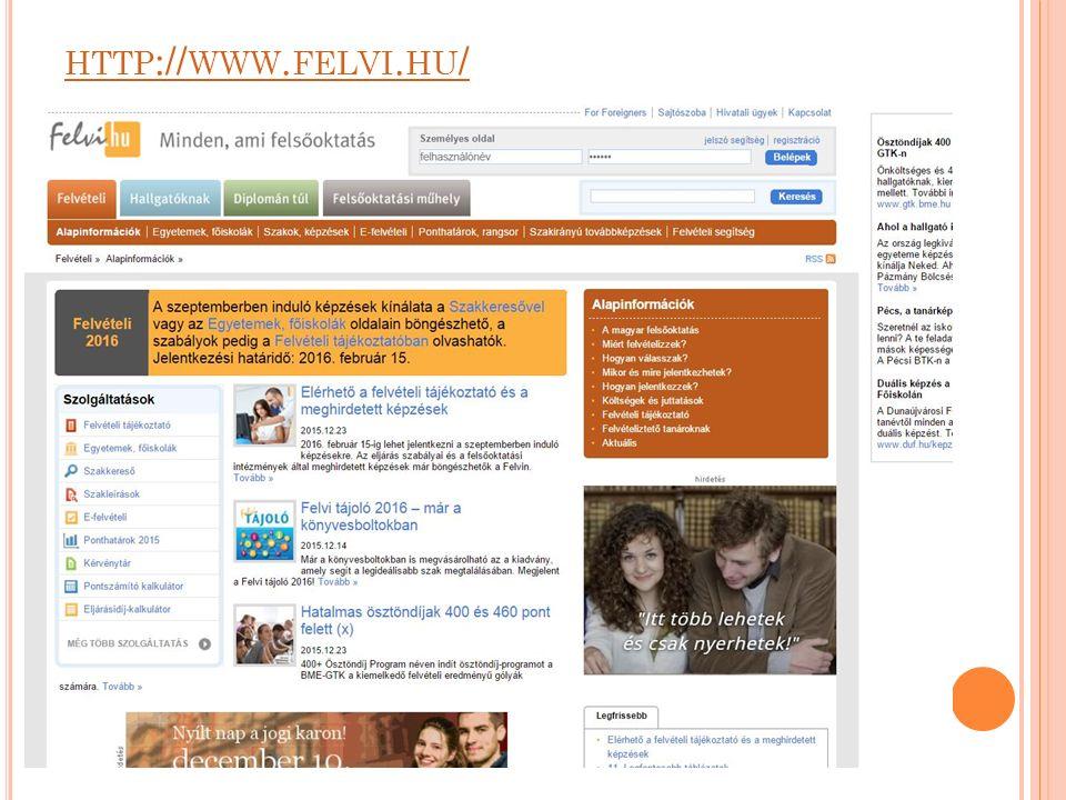HTTP :// WWW. FELVI. HU /