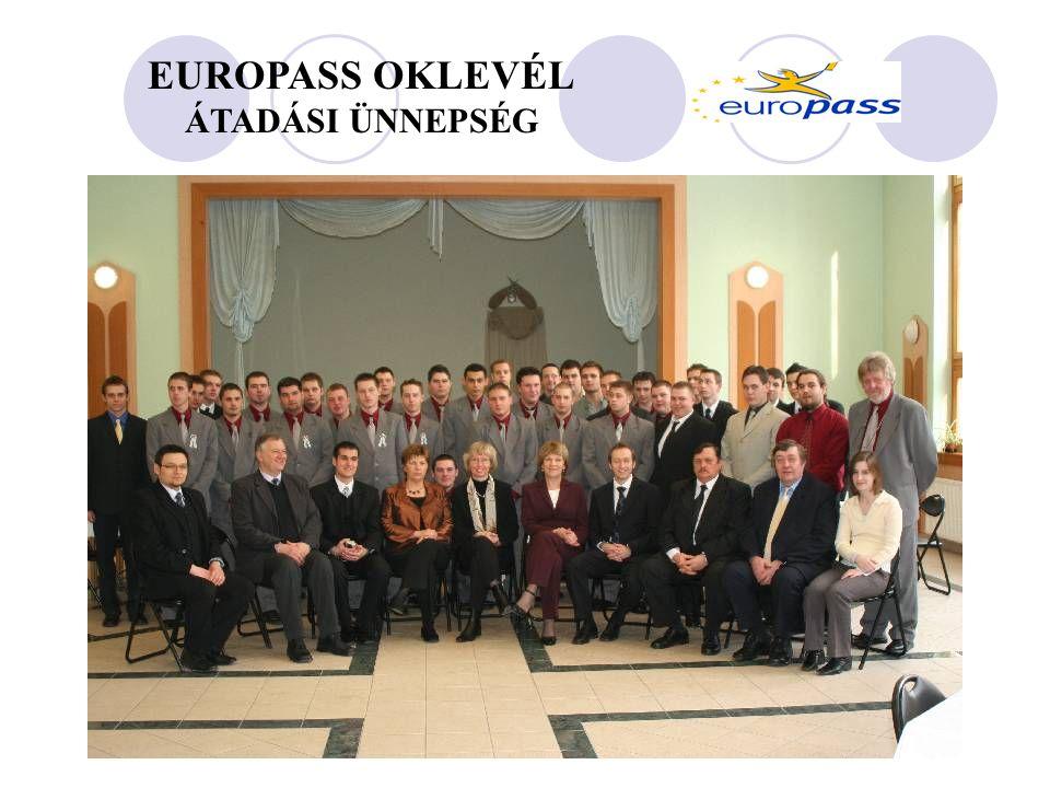 EUROPASS OKLEVÉL ÁTADÁSI ÜNNEPSÉG