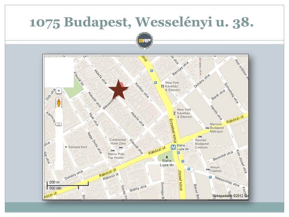 1075 Budapest, Wesselényi u. 38.