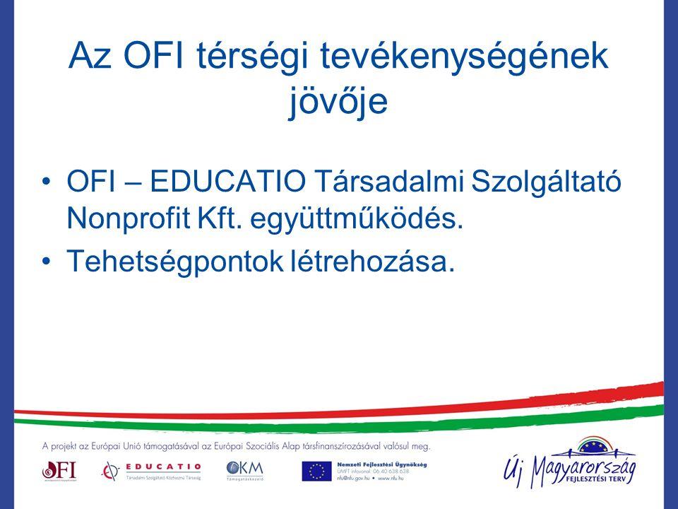 Az OFI térségi tevékenységének jövője OFI – EDUCATIO Társadalmi Szolgáltató Nonprofit Kft.