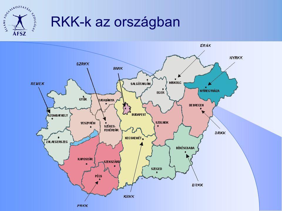 RKK-k az országban