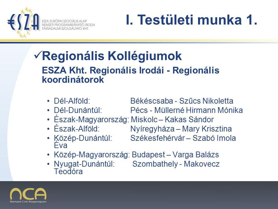 2007.02.02.3 Regionális Kollégiumok ESZA Kht.