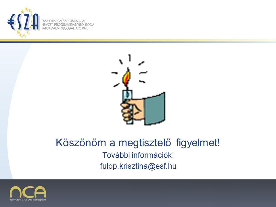 2007.02.02.9 Köszönöm a megtisztelő figyelmet! További információk: fulop.krisztina@esf.hu