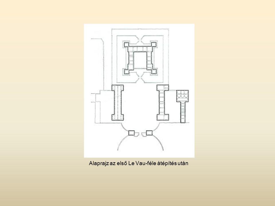 Alaprajz az első Le Vau-féle átépítés után