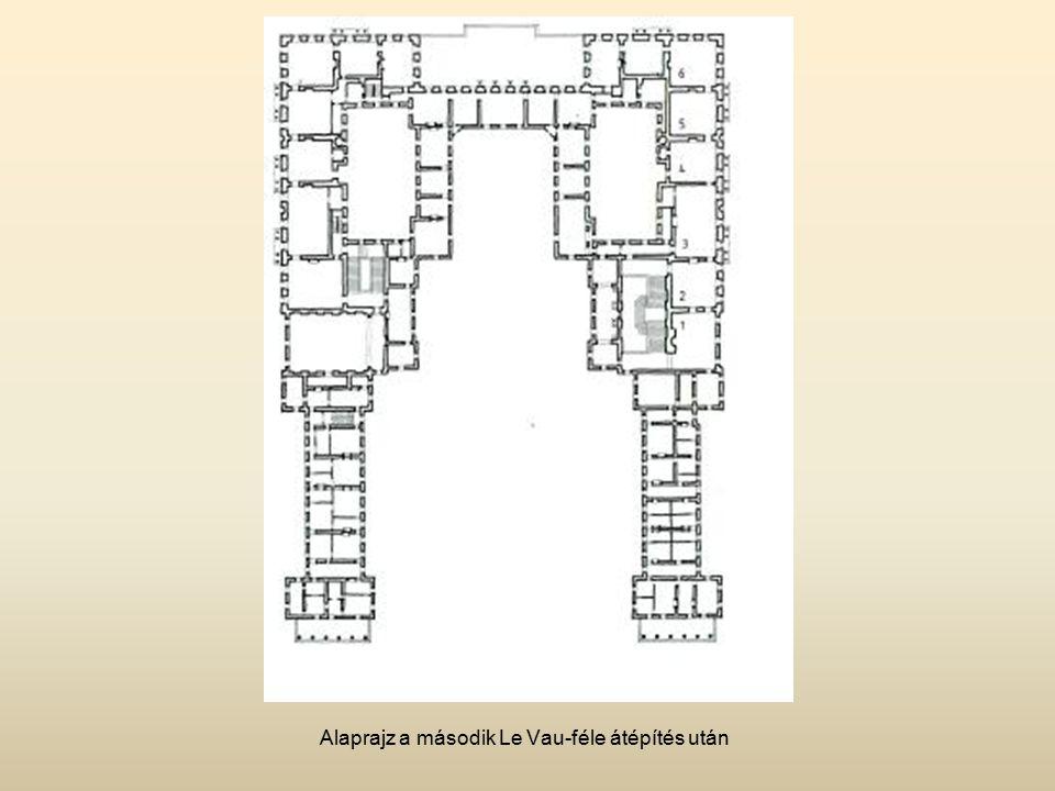 Alaprajz a második Le Vau-féle átépítés után