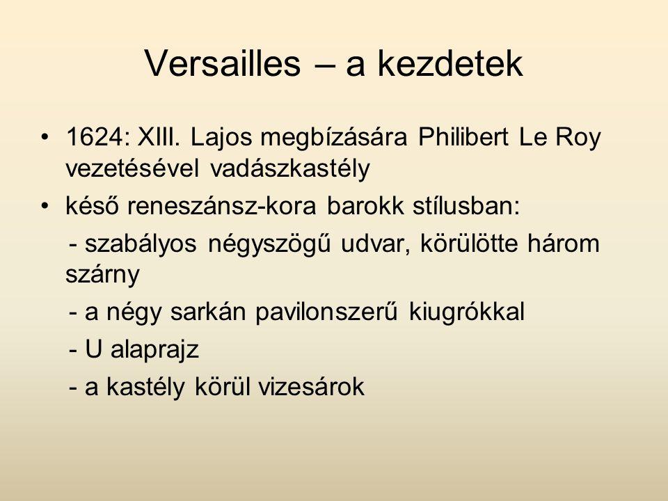 Versailles – a kezdetek 1624: XIII.