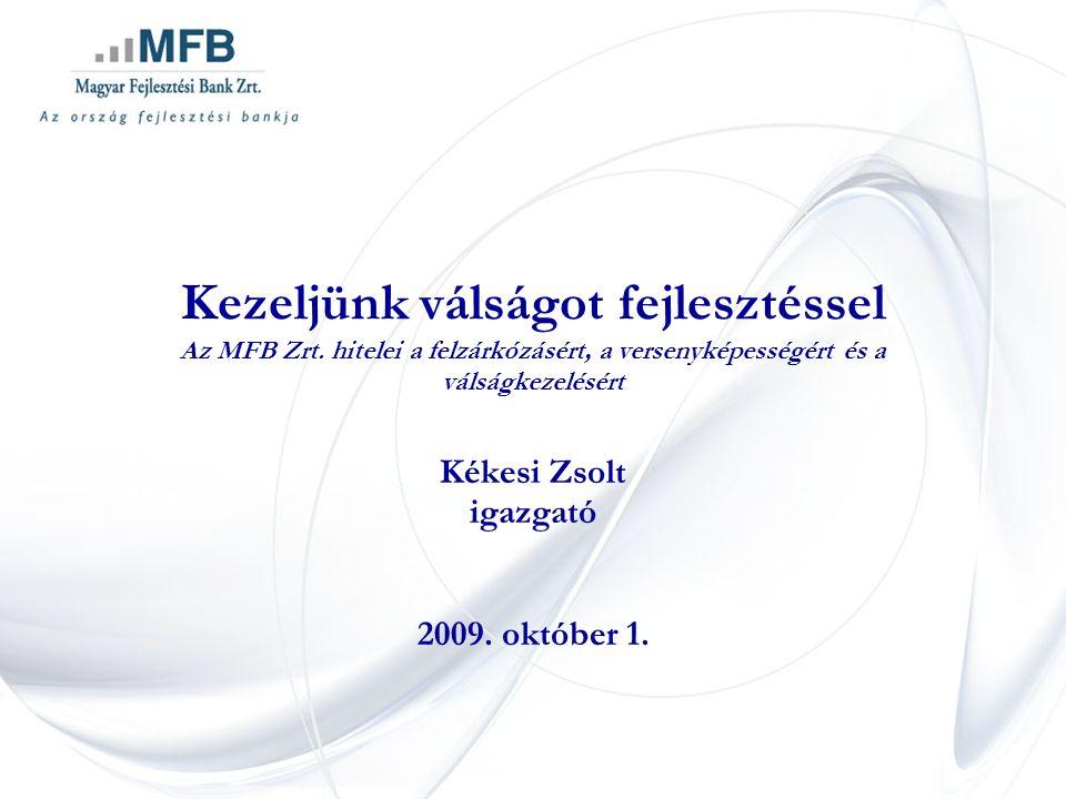 Kezeljünk válságot fejlesztéssel Az MFB Zrt.