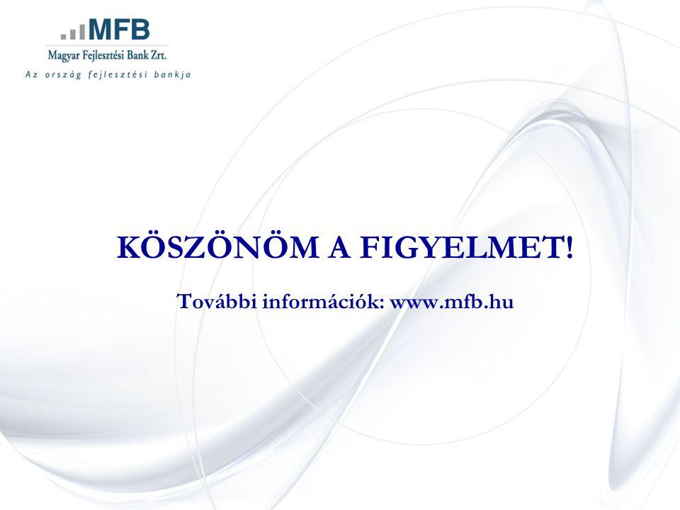 KÖSZÖNÖM A FIGYELMET! További információk: www.mfb.hu