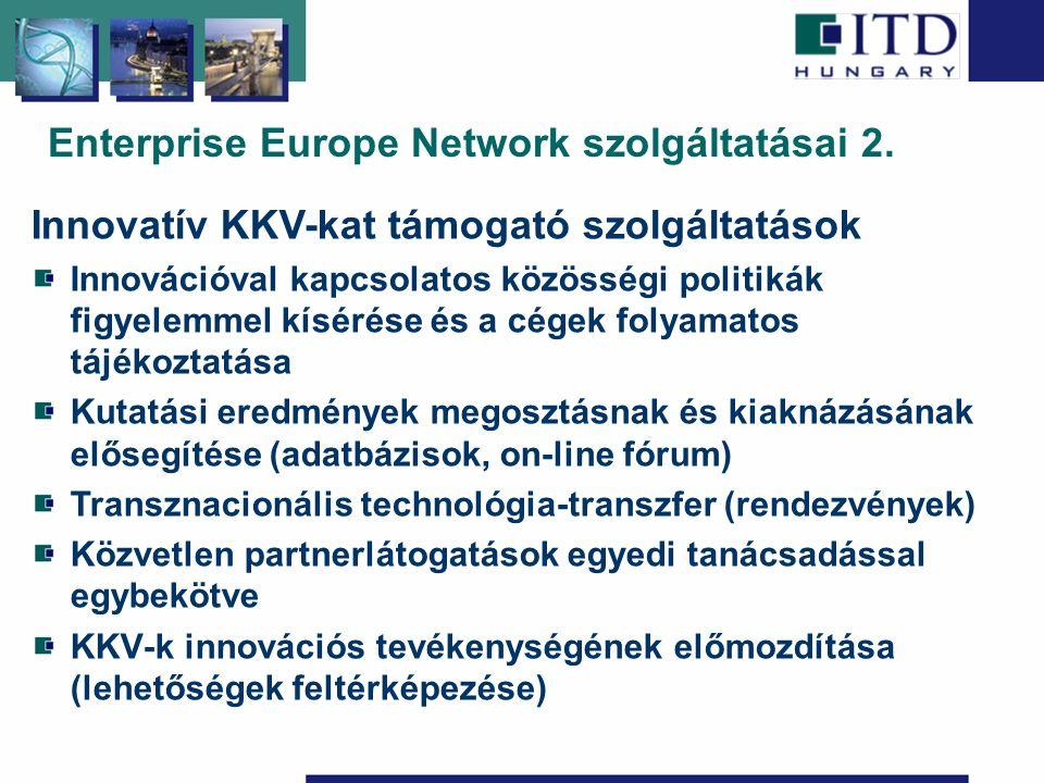 Enterprise Europe Network szolgáltatásai 2.