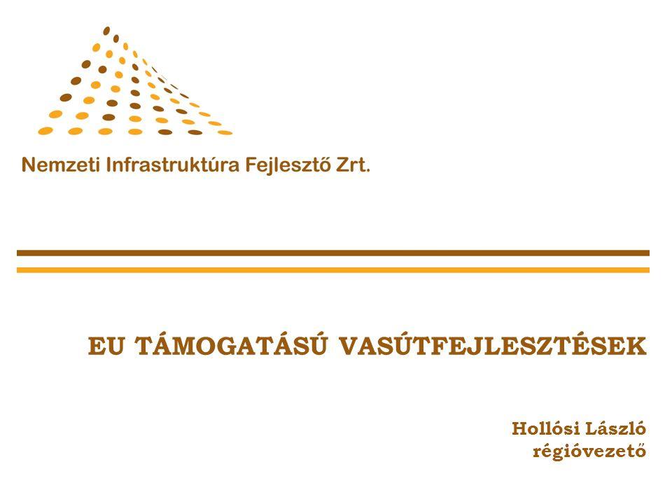 A KözOP indulása A NIF Zrt. vasútfejlesztési projektjei