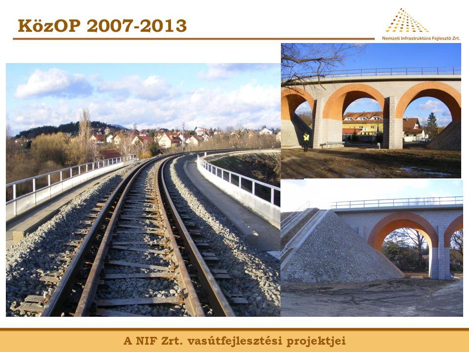 KözOP 2007-2013 A NIF Zrt. vasútfejlesztési projektjei