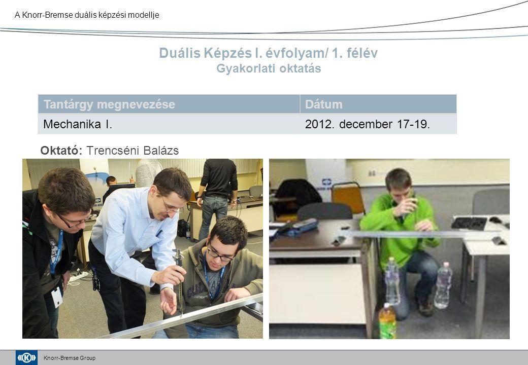 Knorr-Bremse Group Duális Képzés I. évfolyam/ 1.
