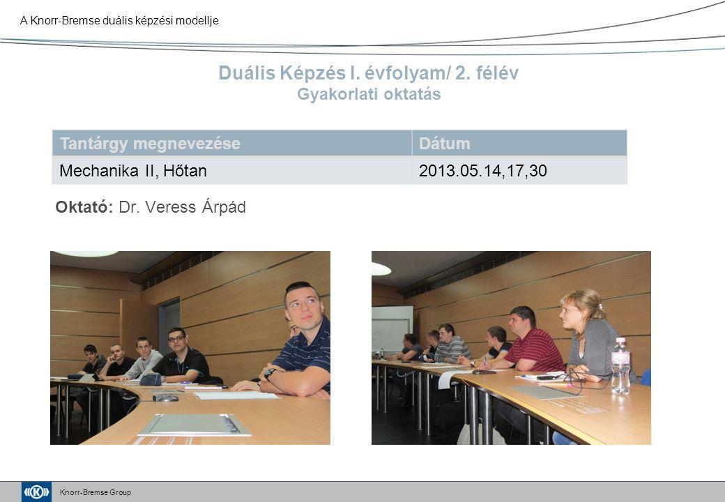 Knorr-Bremse Group Duális Képzés I. évfolyam/ 2.