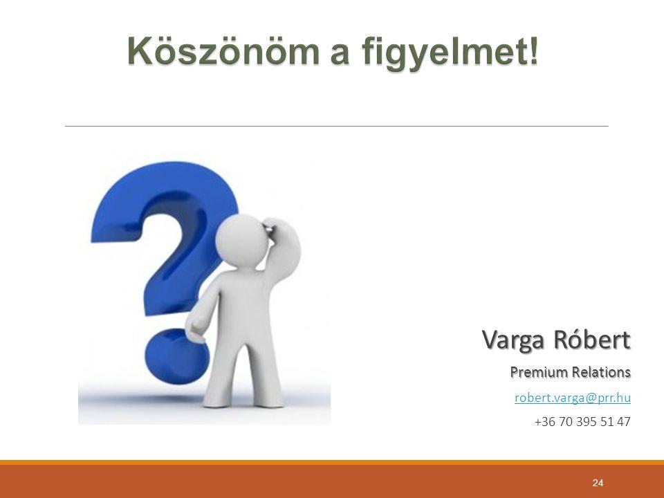 Varga Róbert Premium Relations robert.varga@prr.hu +36 70 395 51 47 24