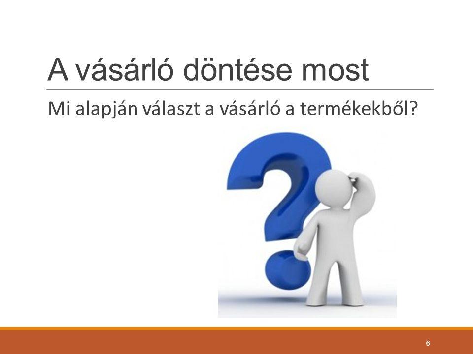 A vásárló döntése most Mi alapján választ a vásárló a termékekből? 6