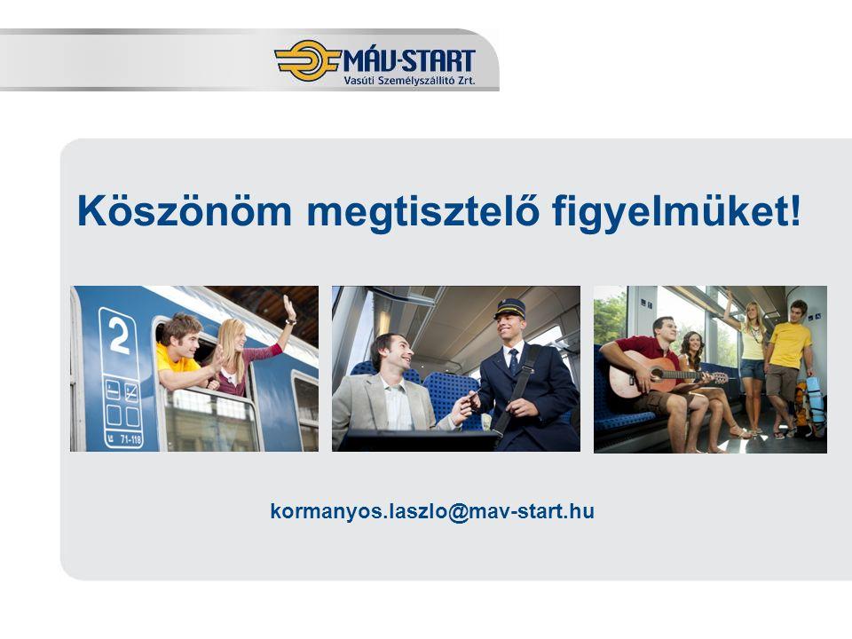 Előadó: Kozák Tamás Köszönöm megtisztelő figyelmüket! kormanyos.laszlo@mav-start.hu