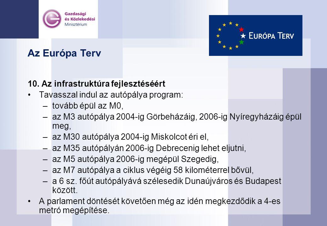 Az Európa Terv 10.