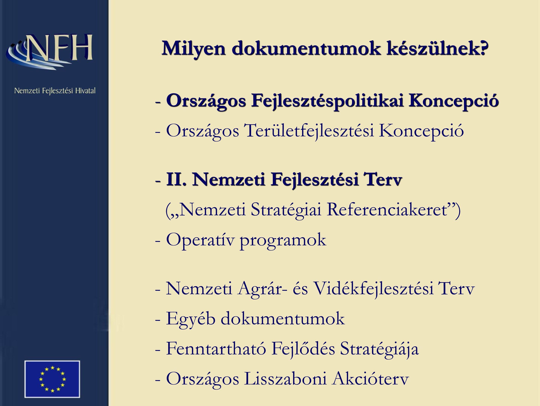 - Országos Fejlesztéspolitikai Koncepció - II.