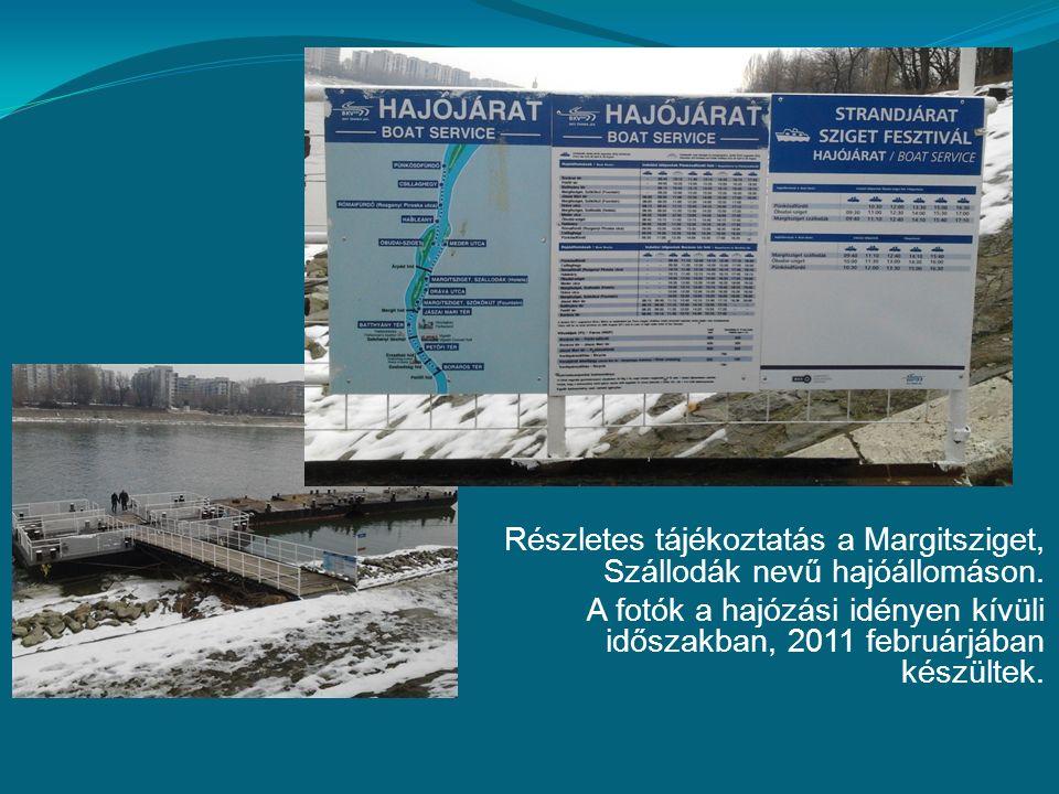 Részletes tájékoztatás a Margitsziget, Szállodák nevű hajóállomáson.