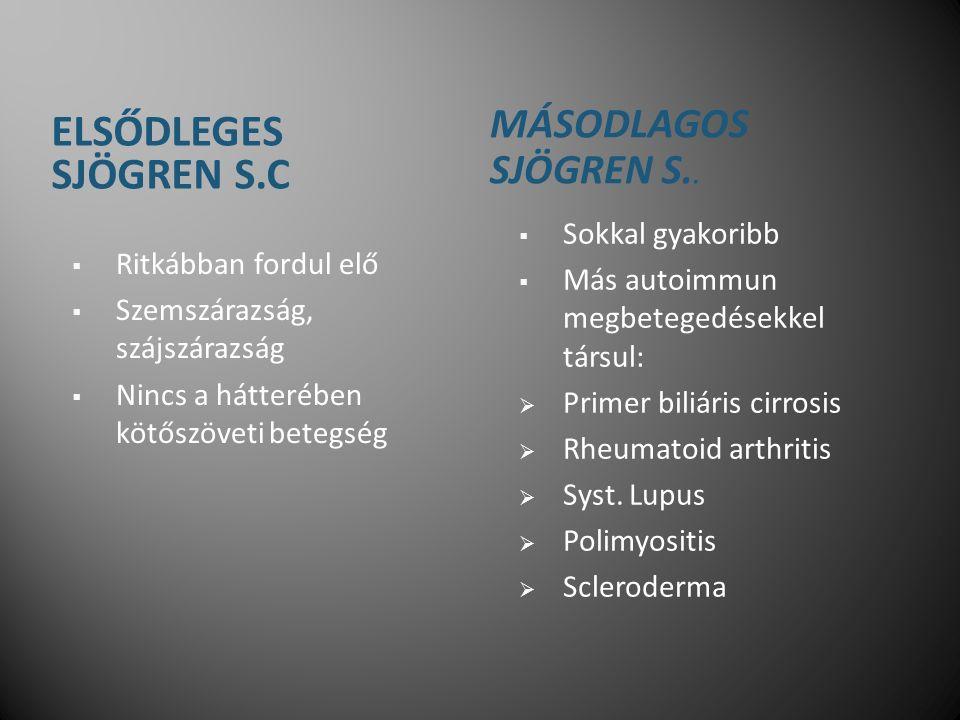 ELSŐDLEGES SJÖGREN S.C MÁSODLAGOS SJÖGREN S..