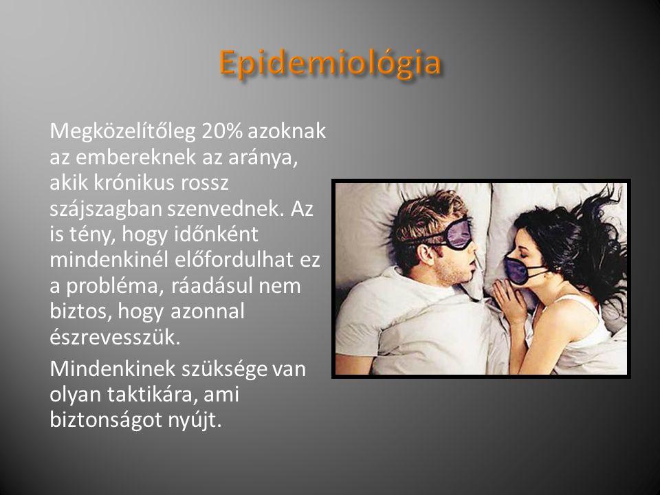 Megközelítőleg 20% azoknak az embereknek az aránya, akik krónikus rossz szájszagban szenvednek.