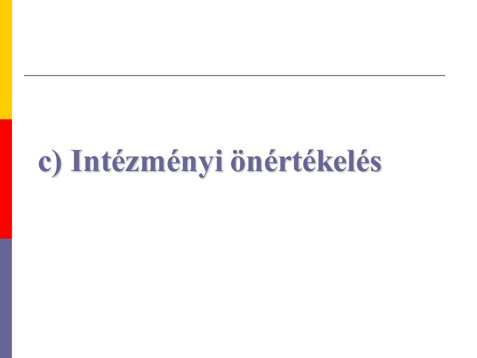 c) Intézményi önértékelés