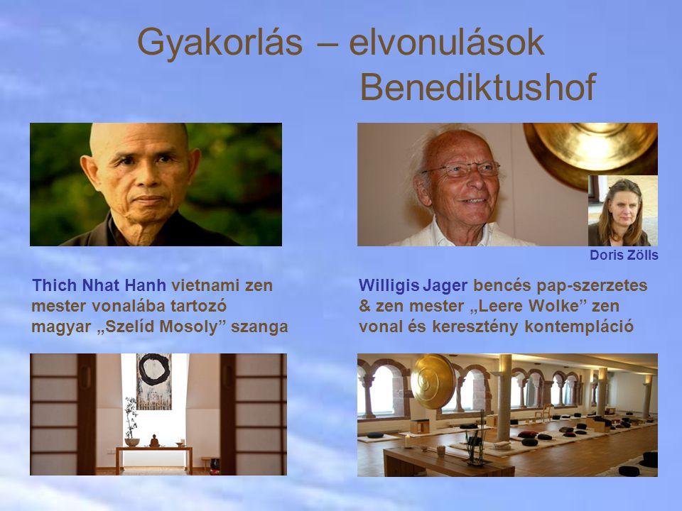 """Gyakorlás – elvonulások Benediktushof Willigis Jager bencés pap-szerzetes & zen mester """"Leere Wolke"""" zen vonal és keresztény kontempláció Thich Nhat H"""