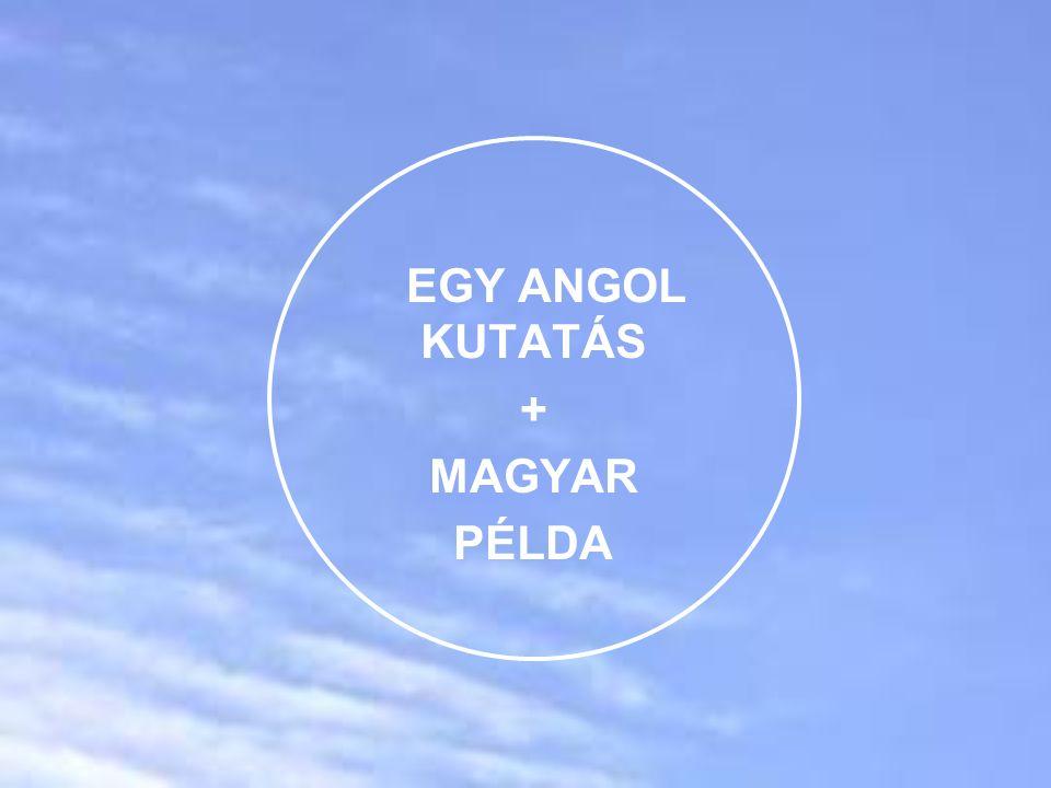 EGY ANGOL KUTATÁS + MAGYAR PÉLDA