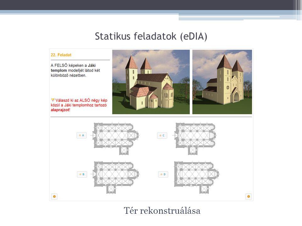Statikus feladatok (eDIA) Tér rekonstruálása