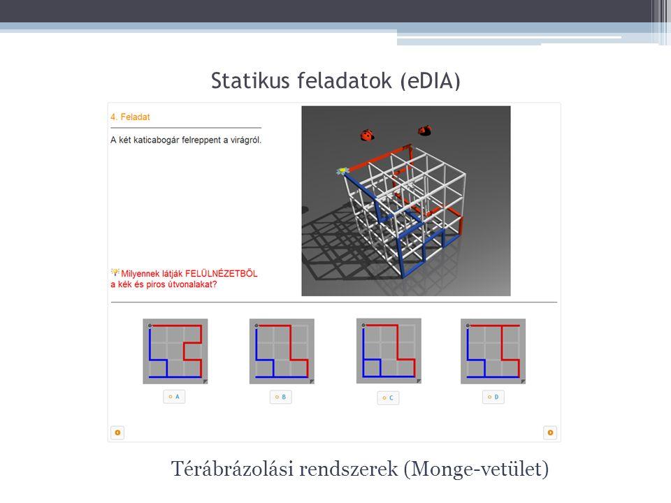 Statikus feladatok (eDIA) Térábrázolási rendszerek (Monge-vetület)