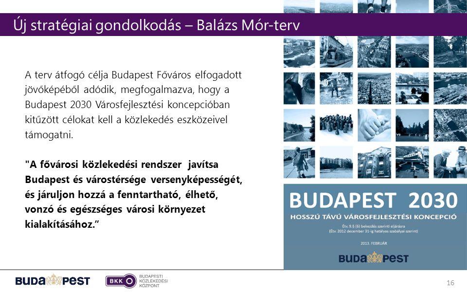 16 A terv átfogó célja Budapest Főváros elfogadott jövőképéből adódik, megfogalmazva, hogy a Budapest 2030 Városfejlesztési koncepcióban kitűzött célokat kell a közlekedés eszközeivel támogatni.
