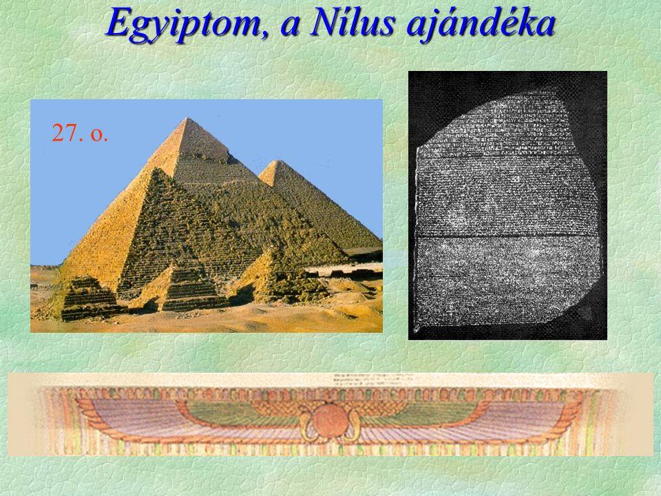 """Egyiptom földje  Földrajzi környezet  elszigetelt  a """"sivatag  A Nílus az élet - öntözés itt is szükséges  áradás, sarjadás, forróság  állandó áradás  állandó tápanyag   szikesedés  Nyersanyagban gazdag, kivéve a fa  a kő szerepe  csere szerepe kisebb A Nílus műholdfelvételen 25."""