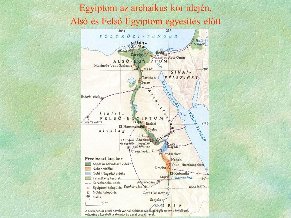 Egyiptom az archaikus kor idején, Alsó és Felső Egyiptom egyesítés előtt