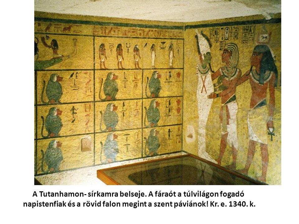 A Tutanhamon- sírkamra belseje.