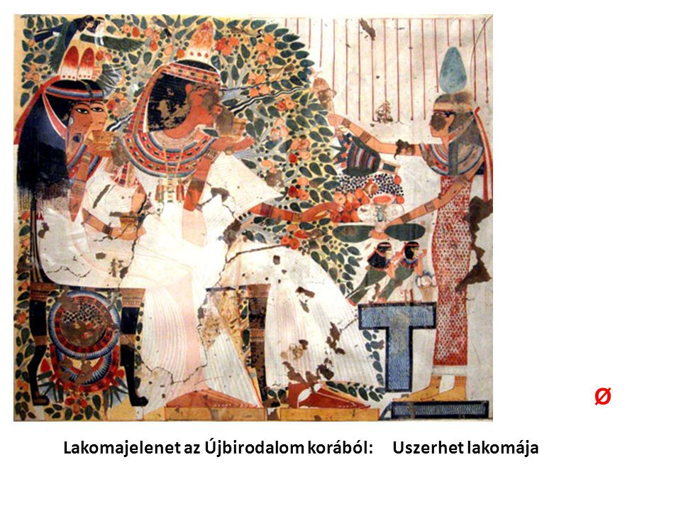 Lakomajelenet az Újbirodalom korából: Uszerhet lakomája Ø