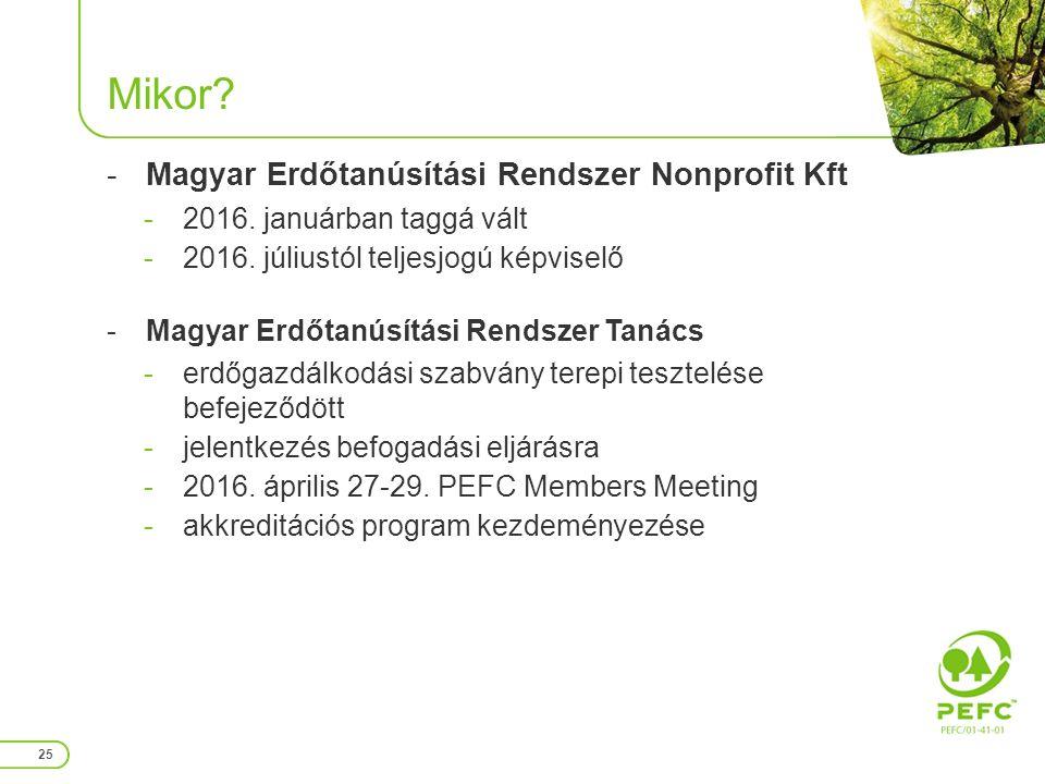 Mikor. 25 -Magyar Erdőtanúsítási Rendszer Nonprofit Kft -2016.