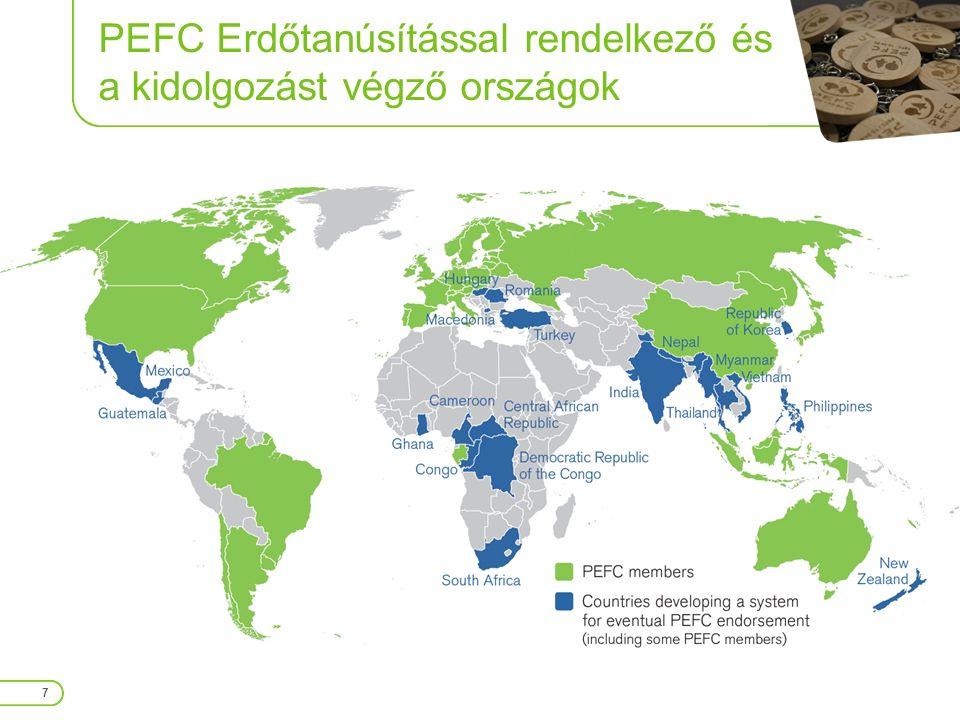 PEFC Tanúsított Erdőterületek Több, mint negyedmilliárd hektár 8