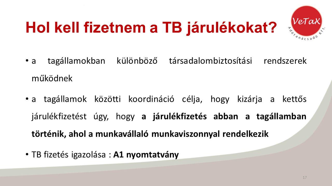 Hol kell fizetnem a TB járulékokat.