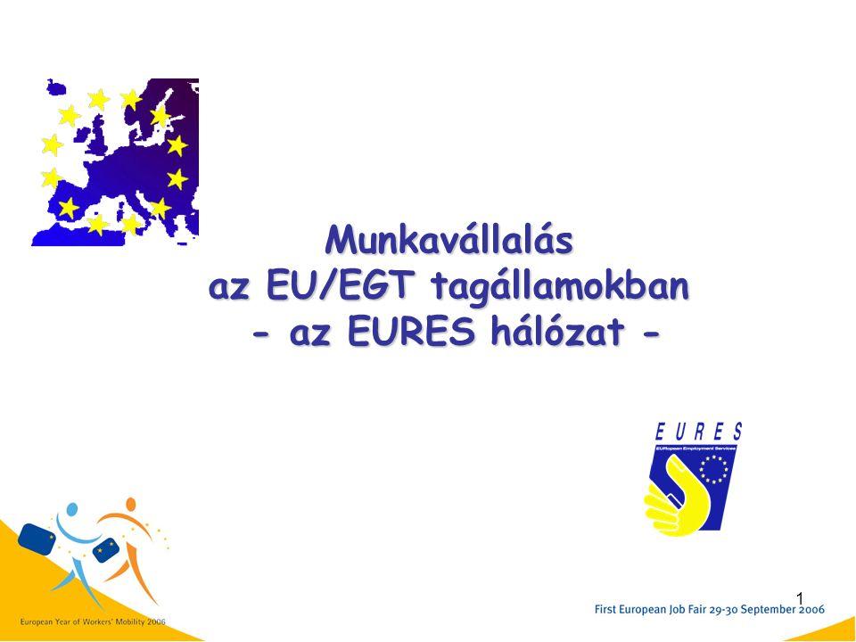 1 Munkavállalás az EU/EGT tagállamokban - az EURES hálózat -