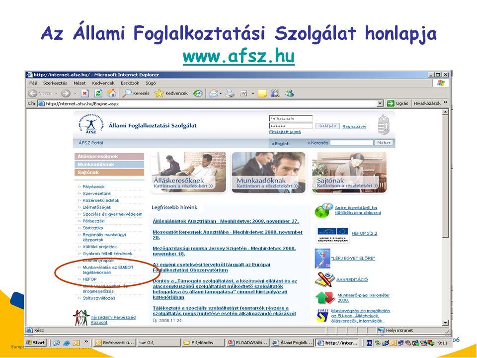 12 Az Állami Foglalkoztatási Szolgálat honlapja www.afsz.hu www.afsz.hu