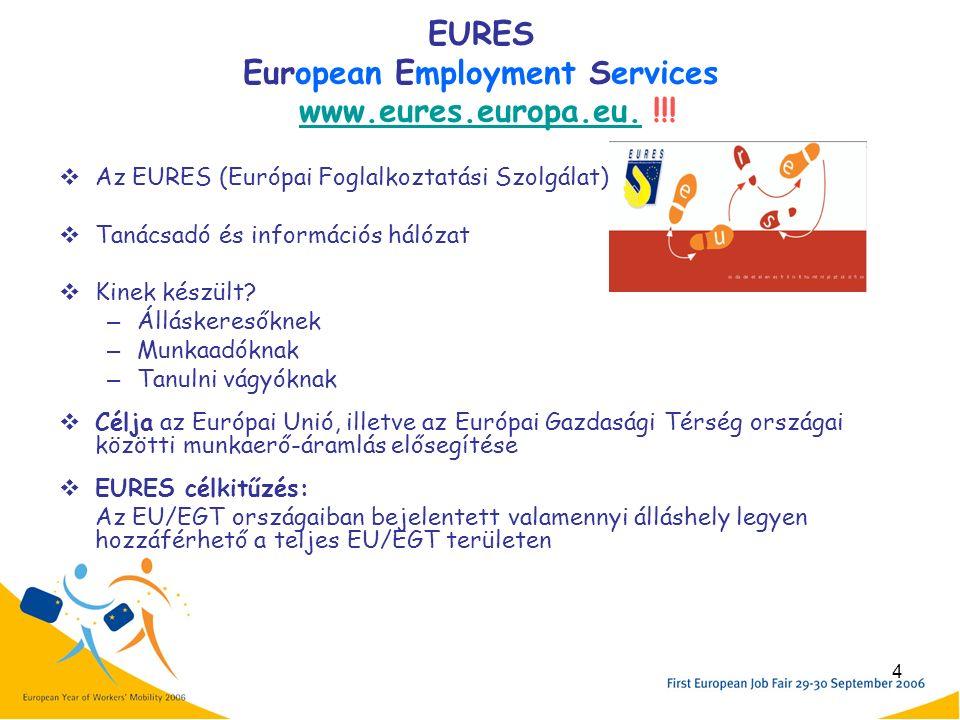 4 EURES European Employment Services www.eures.europa.eu.