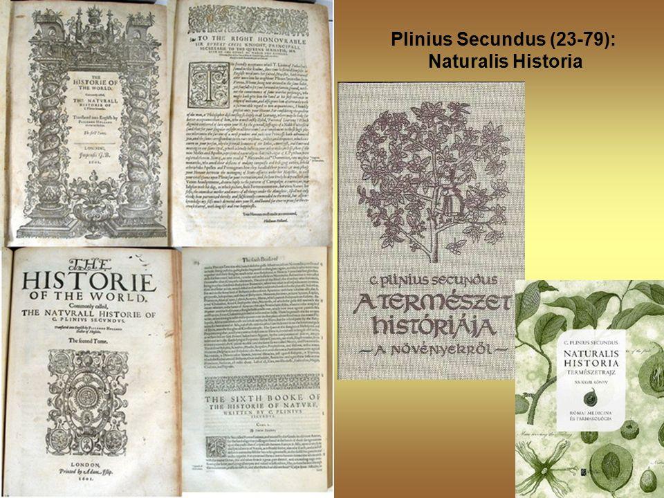 Plinius Secundus (23-79): Naturalis Historia
