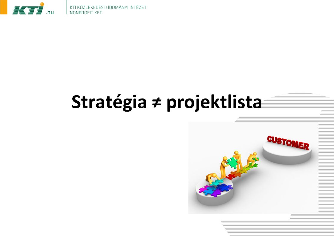 Stratégia ≠ projektlista