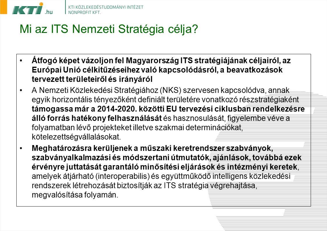 Mi az ITS Nemzeti Stratégia célja? Átfogó képet vázoljon fel Magyarország ITS stratégiájának céljairól, az Európai Unió célkitűzéseihez való kapcsolód