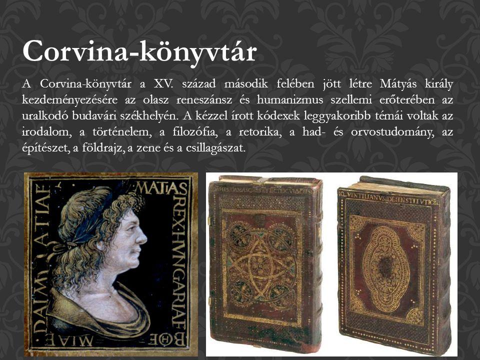 A Corvina-könyvtár a XV.