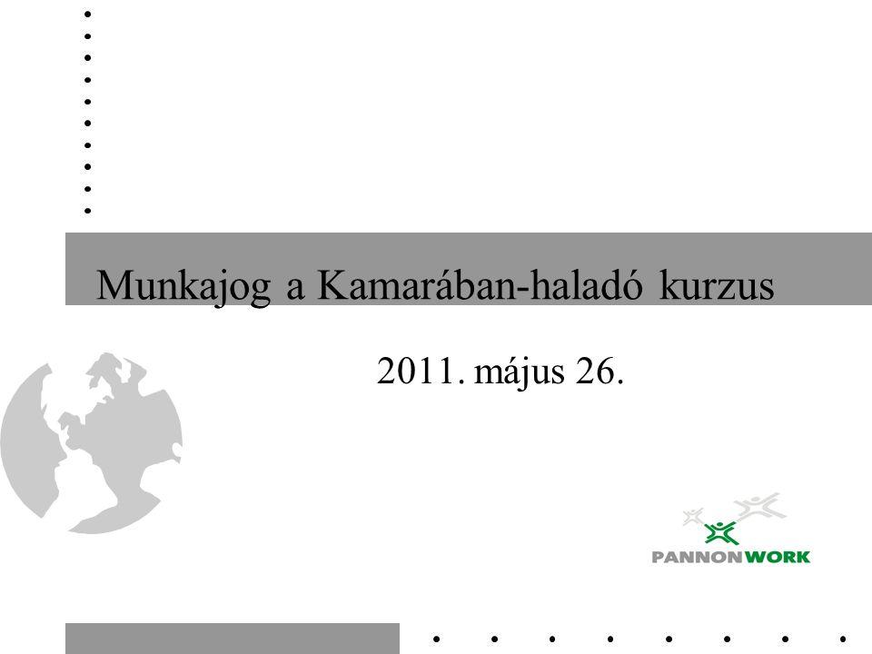 Munkajog a Kamarában-haladó kurzus 2011. május 26.