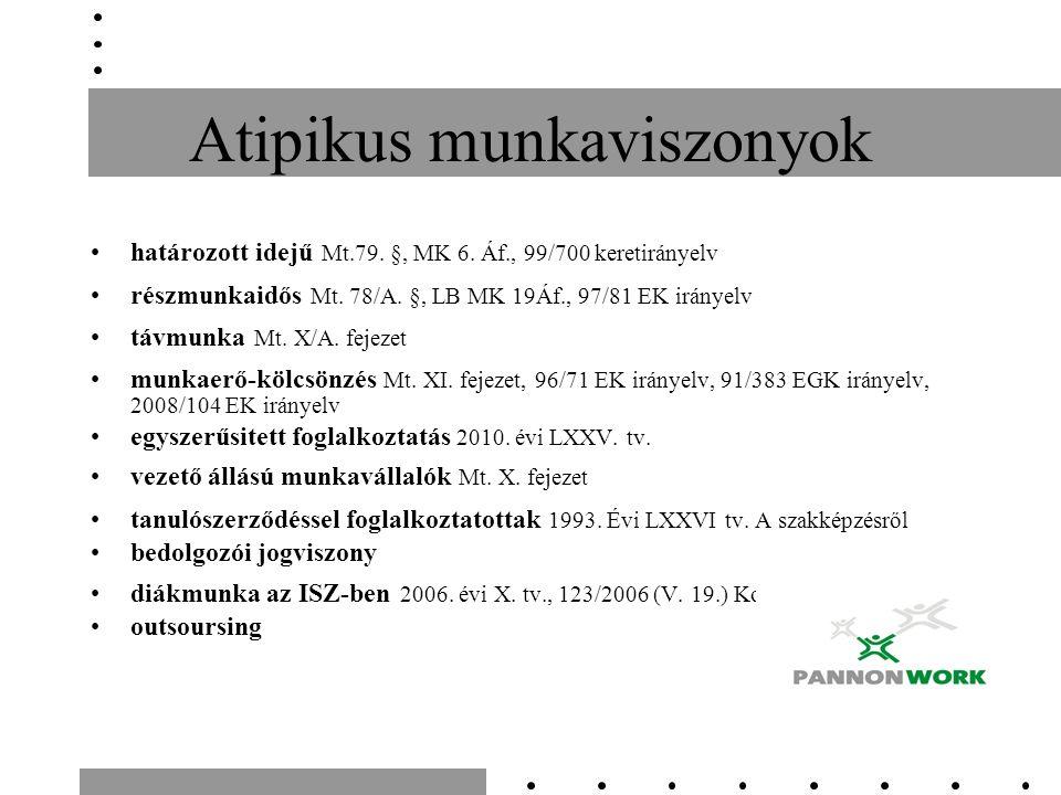 Munkarend A munkáltató működési rendje és az egyes munkarendek összefüggései Miből állhat össze egy munkarend.