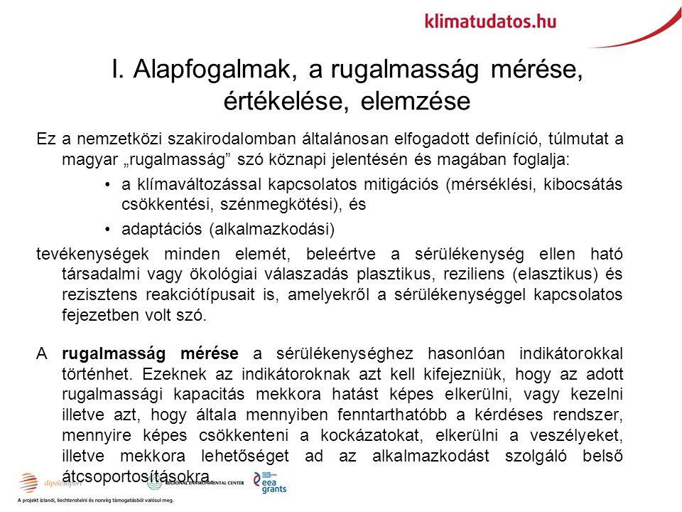"""I. Alapfogalmak, a rugalmasság mérése, értékelése, elemzése Ez a nemzetközi szakirodalomban általánosan elfogadott definíció, túlmutat a magyar """"rugal"""